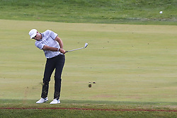 June 21, 2018 - Cromwell, Connecticut, United States - CROMWELL, CT-JUNE 21: Stewart Cink hits a fairway shot on the 17th hole during the first round of the Travelers Championship on June 21, 2018 at TPC River Highlands in Cromwell, Connecticut. (Credit Image: © Debby Wong via ZUMA Wire)
