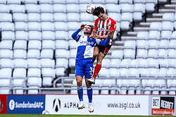 Luke Leahy of Bristol Rovers is challenged by Luke O'Nien of Sunderland - Mandatory by-line: Robbie Stephenson/JMP - 12/09/2020 - FOOTBALL - Stadium of Light - Sunderland, England - Sunderland v Bristol Rovers - Sky Bet League One