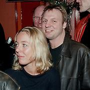 Opening cafe Sven & Dave, Rob Stenders en vriendin Margje Teeuwen