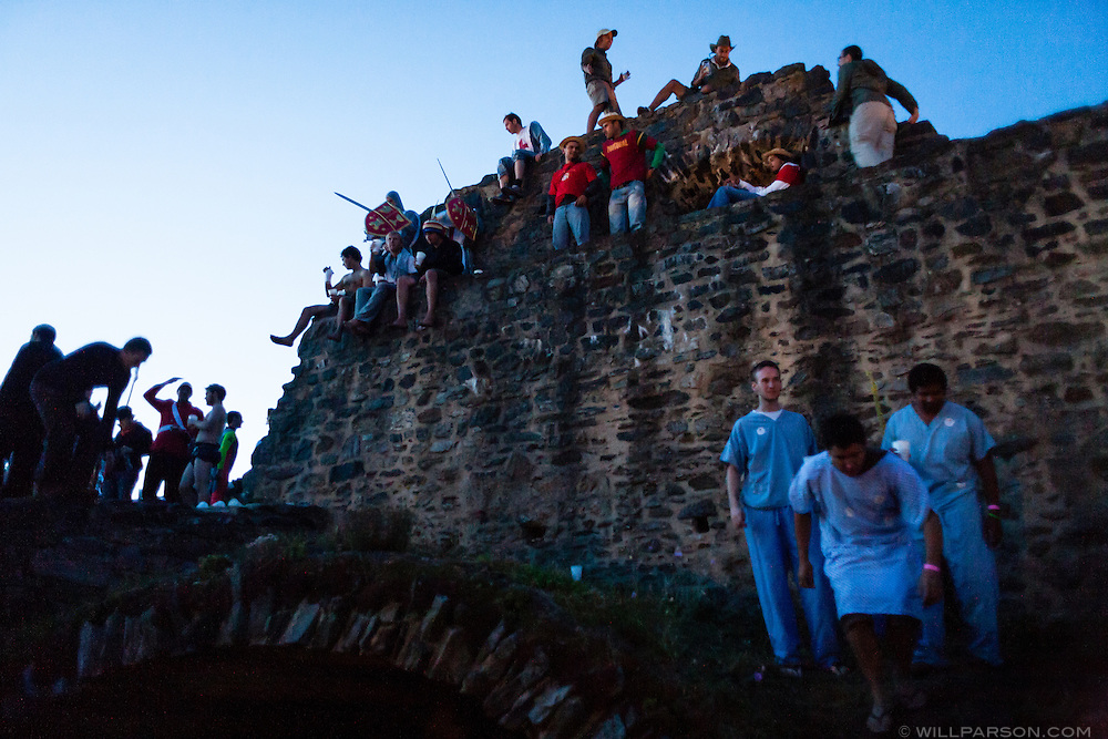 Roughly 500 teams participating in the Mongol Rally reunited at Klenova Castle in the Czech Republic before heading farther east on their journeys.