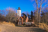The Presque Isle Lighthouse In Late Afternoon Light On A Beautiful Lake Erie Day, Erie Pennsylvania, USA