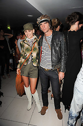 SIOBHAN FAHEY and WILD CAT WILL (Will Blanchard) at the W Hotels & American Express launch for the James Small collection at Number One Leicester Square, London on 22nd September 2010.