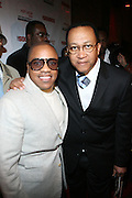 """l to r: Kedar Massenburg and Rev. Benjamin Chavis at The Russell Simmons and Spike Lee  co-hosted""""I AM C.H.A.N.G.E!"""" Get out the Vote Party presented by The Source Magazine and The HipHop Summit Action Network held at Home on October 30, 2008 in New York City"""
