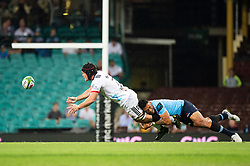 March 23, 2019 - Sydney, NSW, U.S. - SYDNEY, NSW - MARCH 23: Crusaders player Matt Todd (7) tackled by Waratahs player Israel Folau (15) as he gets the pass away at round 6 of Super Rugby between NSW Waratahs and Crusaders on March 23, 2019 at The Sydney Cricket Ground, NSW. (Photo by Speed Media/Icon Sportswire) (Credit Image: © Speed Media/Icon SMI via ZUMA Press)