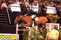 Rikstoto Grand Prix, Oslo Horse Show, Oslo Spektrum 19.10.02 <br />Saturday, October 19th 2002. OPSTALAN'S MEDLINE \ Rolf-Göran BENGTSSON (SWE)<br />Foto: Geir Egil Skog, Digitalsport