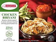 Packaging image of Bombay Kitchen's Chicken Biryani.