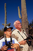 Dan Chiaravalli goes birding with Roger Tory Peterson at the Desert Museum, Tucson Arizona..Media Usage:.Subject photograph(s) are copyrighted Edward McCain. All rights are reserved except those specifically granted by McCain Photography in writing...McCain Photography.211 S 4th Avenue.Tucson, AZ 85701-2103.(520) 623-1998.mobile: (520) 990-0999.fax: (520) 623-1190.http://www.mccainphoto.com.edward@mccainphoto.com.