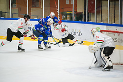 Nik Simcic during international tournament Euro ice hockey challenge on a friendly game with Hungary, on February 7, 2019 in Bled, Slovenia. Photo by Peter Podobnik / Sportida