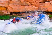 Whitewater rafting, House Rock Rapid, Marble Canyon, Colorado River, Grand Canyon National Park, Arizona USA