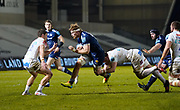 Sale Sharks No.8 Dan Du Preez on the charge during a Gallagher Premiership Round 11 Rugby Union match, Friday, Feb 26, 2021, in Eccles, United Kingdom. (Steve Flynn/Image of Sport)