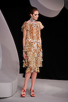 Rachel Clark walks the runway  at the Christian Dior Cruise Collection 2008 Fashion Show