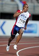 Aug 28, 2007; Osaka, JAPAN; Rodney Martin (USA) wins 200m quarterfinal in 20.25 in the 11th IAAF World Championships at Nagai Stadium.