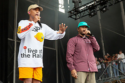 August 10, 2018 - San Francisco, California, U.S - PHARRELL WILLIAMS and CHAD HUGO of N.E.R.D. during Outside Lands Music Festival at Golden Gate Park in San Francisco, California (Credit Image: © Daniel DeSlover via ZUMA Wire)