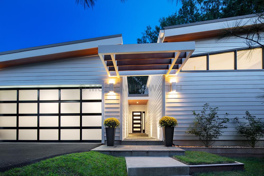 3553 Nelly Curtis Modern home exterior twilight VA 2-174-303