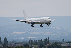 © Licensed to London News Pictures . 25/06/2014 . Manchester , UK . The plane carrying the England football team lands at Manchester Airport this afternoon (25th June 2014) . Photo credit : Joel Goodman/LNP