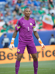 July 13, 2017 - Denver, Colorado, U.S - Curacao G ELOY ROOM readies for a corner kick during the 2nd. Half at Sports Authority Field at Mile High during the CONCACAF Gold Cup tournament Thursday night. El Salvador beats Curacao 2-0. (Credit Image: © Hector Acevedo via ZUMA Wire)