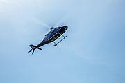 Life Flight helicopter landing at Oregon Aviation Historical Society.