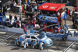 November 12, 2017 - Avondale, Arizona, United States of America - November 12, 2017 - Avondale, Arizona, USA: Kyle Larson (42) comes down pit road for service during the Can-Am 500(k) at Phoenix Raceway in Avondale, Arizona. (Credit Image: © Justin R. Noe Asp Inc/ASP via ZUMA Wire)
