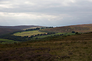 North York Moors landscape, North Yorkshire, England, UK. The North York Moors is a national park in North Yorkshire, England. The moors is one of the largest expanses of heather moorland in the United Kingdom. The North York Moors became a National Park in 1952, through the National Parks and Access to the Countryside Act of 1949.