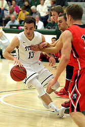 25 November 2014:  Bryce Dolan during an NCAA mens division 3 CCIW basketball game between the Milwaukee School of Engineering Raiders and the Illinois Wesleyan Titans in Shirk Center, Bloomington IL
