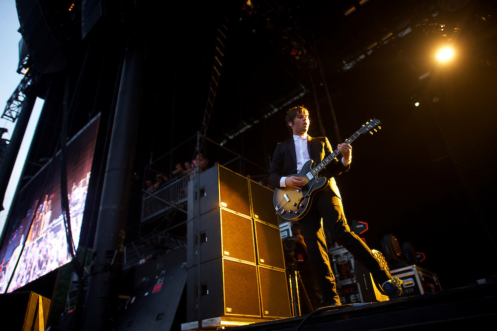 Foster the People performs during the Firefly Music Festival in Dover, Delaware June 20, 2015.  According to organizers, attendance exceeded 90,000 for the four day festival, which featured more than 110 acts, and was set in 105 acre grounds of the Dover International Speedway.