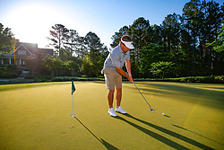 Georgia head football football coach Kirby Smart practices prior to the Chick-fil-A Peach Bowl Challenge at the Ritz Carlton Reynolds, Lake Oconee, on Monday, April 30, 2019, in Greensboro, GA. (Paul Abell via Abell Images for Chick-fil-A Peach Bowl Challenge)