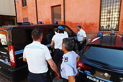 EDER GUIDARELLI MATTIOLI ALL'USCITA DAL TRIBUNALE<br /> UDIENZA PROCESSO OMICIDIO MARCELLO CENCI FERRARA