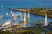 Ala Wai Yacht Harbor, Waikiki, Oahu, Hawaii