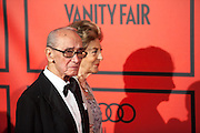 Mike Stilianopoulos and Pitita Ridruejo during the photocall of Vanity Fair 5th Anniversary party In Madrid