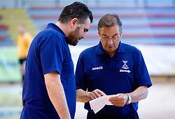 Boris Denic and Miro Pozun at practice of Slovenian Handball Men National Team, on June 4, 2009, in Arena Kodeljevo, Ljubljana, Slovenia. (Photo by Vid Ponikvar / Sportida)