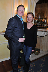 RUFUS HOUND and SOPHIA MYLES at an after show party following the cast change from 'One Man, Two Guvnors' held at the Theatre Royal Haymarket, London on 12th February 2013.