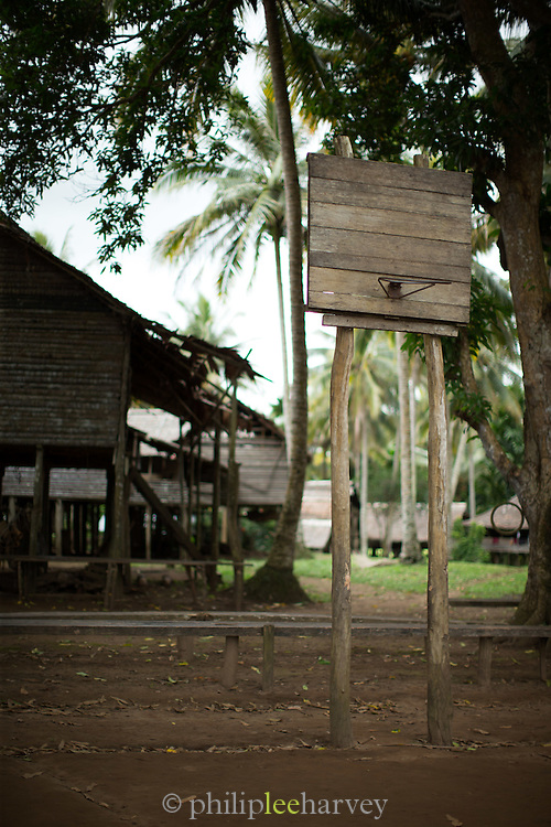 Basketball Hoop, Orga Village, Lake Murray, Middle Fly District, Western Province, Papua New Guinea