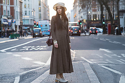Cecilia Musmeci (Vogue.It/ A Magazine curated by) during London Fashion Week Autumn/Winter 2017 in London.  Picture date: Friday 17th February 2017. Photo credit should read: DavidJensen/EMPICS Entertainment