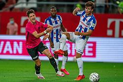 """Adrian Dalmau #9 of Utrecht in action. FC Utrecht convincingly won the practice match against sc Heerenveen. The """"Domstedelingen"""" were too strong for SC Heerenveen in Stadium Galgenwaard with 4-1<br /> on August 20, 2020 in Utrecht, Netherlands"""