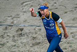 Marleen Ramond-van Iersel in action during the first day of the beach volleyball event King of the Court at Jaarbeursplein on September 9, 2020 in Utrecht.