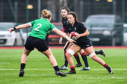 Wales women's Alisha Butchers in action during todays match<br /> <br /> Photographer Craig Thomas/Replay Images<br /> <br /> International Friendly - Wales women v Ireland women - Sunday 21th January 2018 - CCB Centre for Sporting Excellence - Ystrad Mynach<br /> <br /> World Copyright © Replay Images . All rights reserved. info@replayimages.co.uk - http://replayimages.co.uk