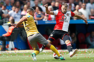 Feyenoord-player Bart Nieuwkoop and Excelsior-player Anouar Hadouir during the Dutch football Eredivisie match between Feyenoord and Excelsior at De Kuip Stadium in Rotterdam, on August 19th, 2018 - Photo Stanley Gontha / Pro Shots / ProSportsImages / DPPI