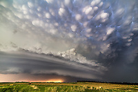 A supercell with mammatus clouds near Burwell, Nebraska supercell from June 16 of this year.  This was shot on Highway 91 east of Spalding.