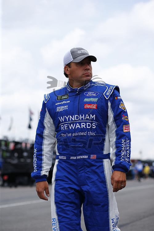 Ryan Newman (6) takes to the track to practice for the Pocono 400 at Pocono Raceway in Long Pond, Pennsylvania.