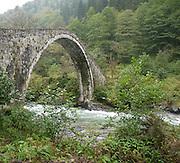 Turkey, Trabzon Province, old stone bridge