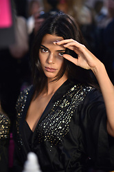 Kendall Jenner posing backstage of the 2018 Victoria's Secret Fashion Show on November 8, 2018 in New York City, New York. Photo by Lionel Hahn/ABACAPRESS.COM