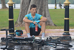 March 24, 2018 - Ruslan Tleubayev from Astana Pro Team Team at the end of the seventh stage, the 222.4 km from Nilai to Muar, of the 2018 Le Tour de Langkawi. .On Saturday, March 24, 2018, in Muar, Malaysia. (Credit Image: © Artur Widak/NurPhoto via ZUMA Press)