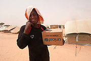 Merlin in Tunisia. Shousha camp for migrant workers displaced from Libya February to May 2011. Leban aged 20 from Somalia