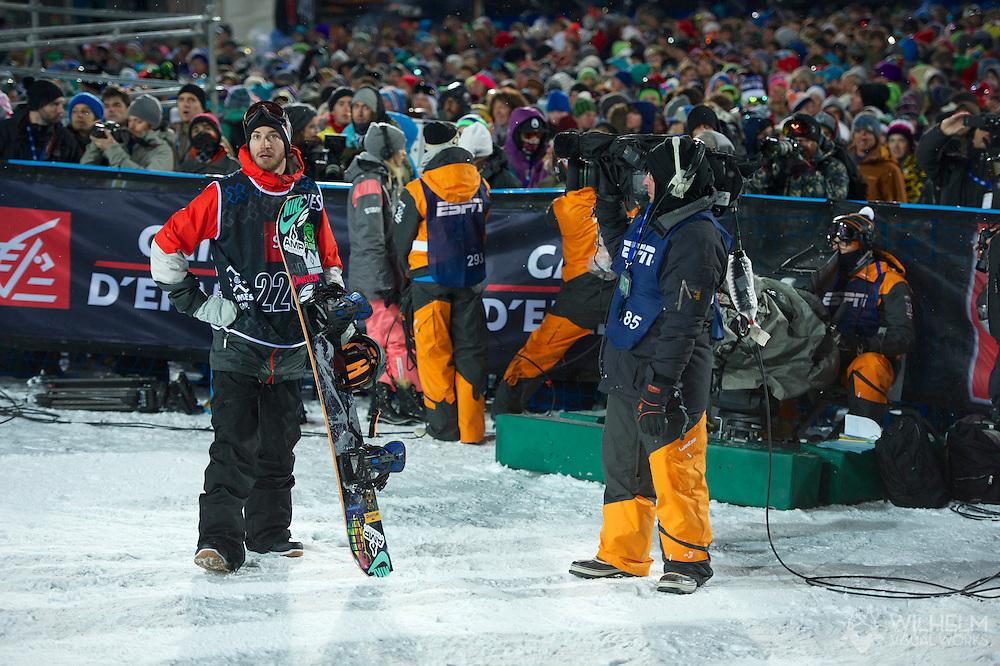 Scotty Lago during Men's Snowboard SuperPipe Eliminations at the 2013 X Games Tignes in Tignes, France. ©Brett Wilhelm/ESPN