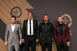 March 19, 2018 - Lisbon, Lisbon, Portugal - Portugal midfielder Joao Moutinho (L) with Portugals defender Bruno Alves (CL) and Portugals goalkeeper Beto (CR) with Portugals forward Ricardo Quaresma (R) poses on arrival at 'Quinas de Ouro' 2018 ceremony held and the Pavilhao Carlos Lopes in Lisbon, on March 19, 2018. (Credit Image: © Dpi/NurPhoto via ZUMA Press)