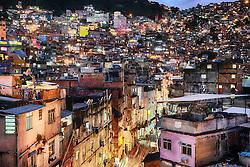 Favela da Rocinha no bairro São Conrado - zona sul do Rio de Janeiro. FOTO: Jefferson Bernardes/ Agência Preview
