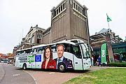 Nederland, Nijmegen, 22-5-2014 D66 verkiezingsavond voor europees parlement. verkiezingscaravaan, verkiezingsbus. Foto: Flip Franssen/ Hollandse Hoogte
