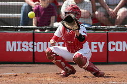 09 May 2014:  Stephanie Gallant during an NCAA Missouri Valley Conference (MVC) Championship series women's softball game between the Loyola Ramblers and the Illinois State Redbirds on Marian Kneer Field in Normal IL