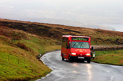 Bus for elderly & disabled people run by Community Group Craven Voluntary Action takes people to rural areas in Yorkshire Dales UK