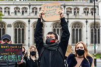 Creatives Unite Against injustice protest at P arlment Sq London 25th oct 2020 photo by Mark Anton Smith